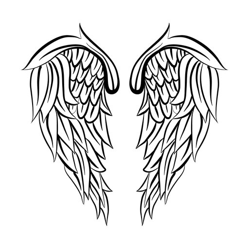 2 silueta detallada ala  descargar pngsvg transparente
