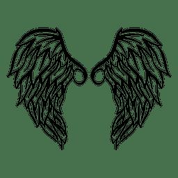 2 silueta de ala detallada 01