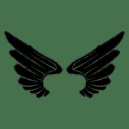 2 alas de logo abiertas