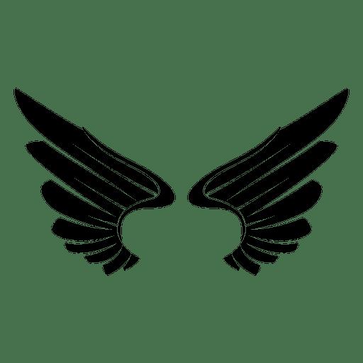 2 open logo wings