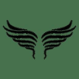 2 asas onduladas abertas