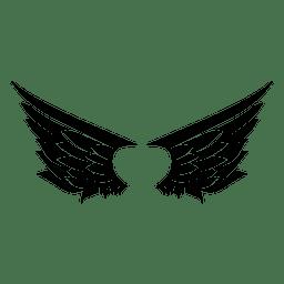 Silhueta do curso de 2 asas