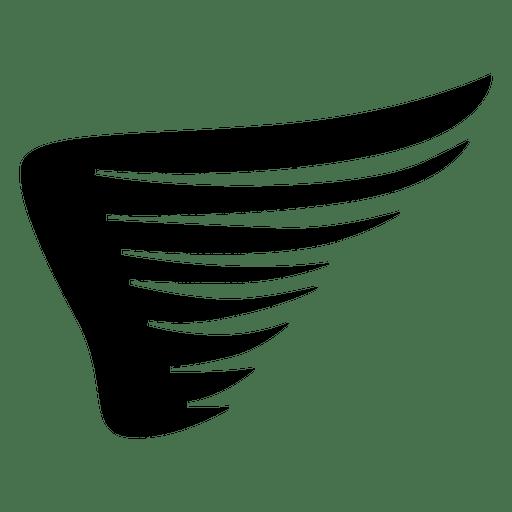 Resumen ala águila silueta 02 Transparent PNG