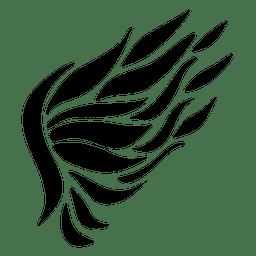 Ala de pluma abstracta silueta