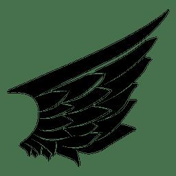 Resumen pluma ala silueta 01