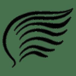 Abstrakter Schlagflügel und Welle
