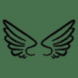 Ala abstracta silueta contorno