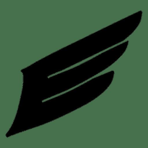 Resumen ala relleno silueta Transparent PNG