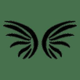 Asas abstratas alinhado silhueta
