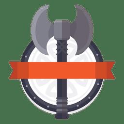 insignia de la guerra Hacha