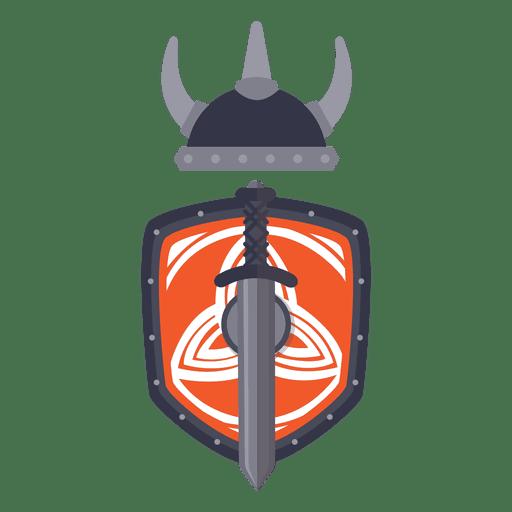 Insignia de guerra de guerrero vikingo