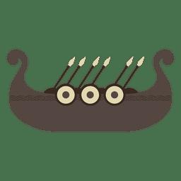 Barco navio viking