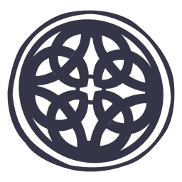 Celtic emblem badge nordic