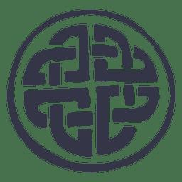 Celtic emblem badge nordic