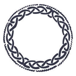 Celtic emblem wreath nordic