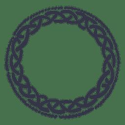 emblema Celtic grinalda nordic