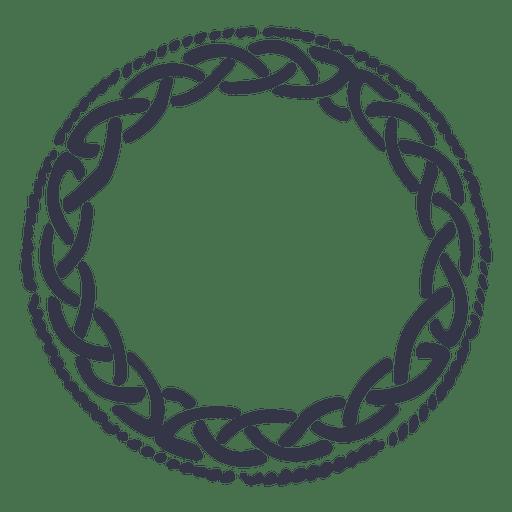Celtic emblem wreath nordic