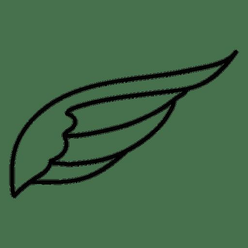 Closed wing silhouette contour Transparent PNG