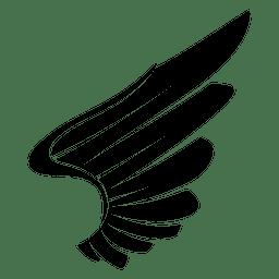 La silueta de Eagle ala 04