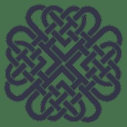 emblema de la insignia céltica nórdica