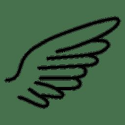 Trazo dibujado a mano silueta de ala curva 01