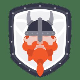Escudo con icono vikingo