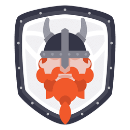 Shield with Viking Icon