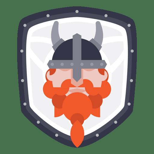 Escudo con icono vikingo Transparent PNG