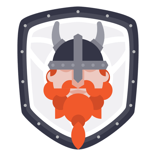 Shield with Viking Icon Transparent PNG