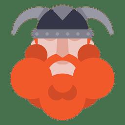 Soldado viking plana com capacete