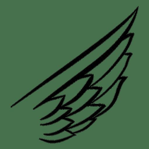 Silueta de ala de trazo abierto