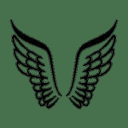 Logotipo da asa aberta