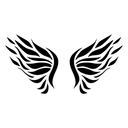 Open wing logo feathers 05