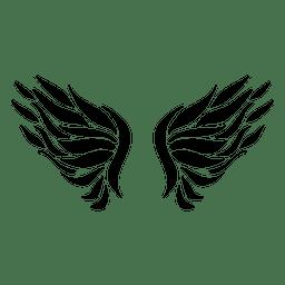 Penas de logotipo de asa aberta 05