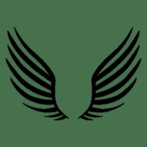 Open wings silhouette