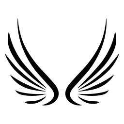 Sharp wing stroke silhouette