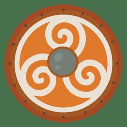 Escudo de guerra de soldados nórdicos.