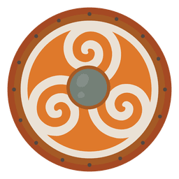 Escudo nórdico guerrero guerra