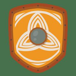 Escudo vikingo guerrero icono