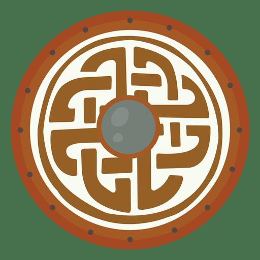 Escudo vikingo guerra Transparent PNG