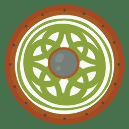 Guerra escudo verde
