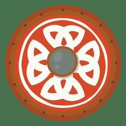 Escudo para la ilustración de la guerra.