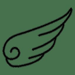 Einfaches Flügelschattenbild mit Strudel