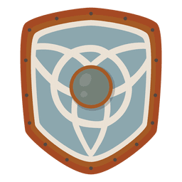 Ícone de escudo de guerra de soldado