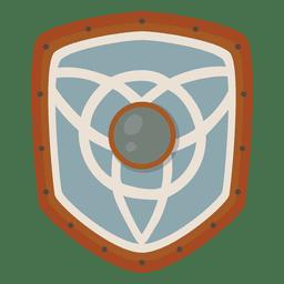 Icono de escudo de guerra soldado