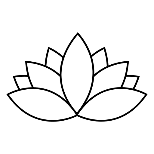 Flor de loto de trazo Transparent PNG