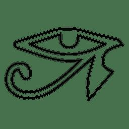 Símbolo de olho de ioga de acidente vascular cerebral