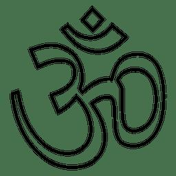 Símbolo de yoga trazo