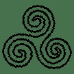 Stroke yoga symbol