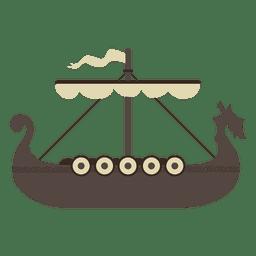 Icono de barco vikingo